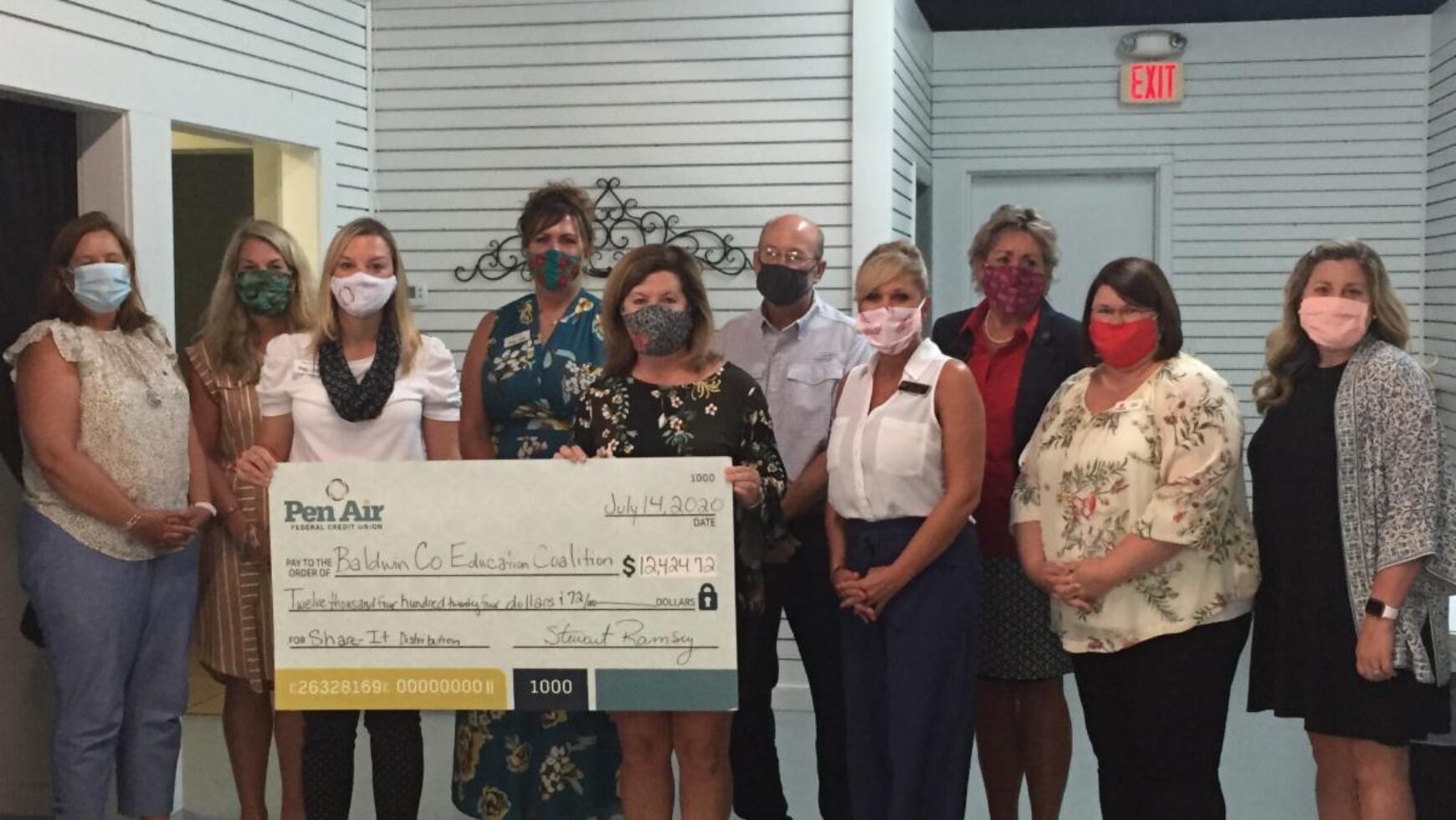 Pen Air Federal Credit Union donates $12,424 to Baldwin County Education Coalition